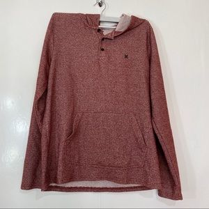 Hurley Hoodie henley in a maroon fleck size Large